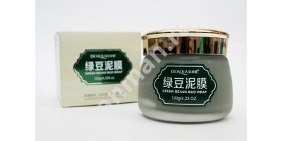 Грязевая маска для лица с зелёными бобами