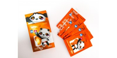 JILISI Маска для век PANDA (LOVE) Crystal Eye Paste оранжевая